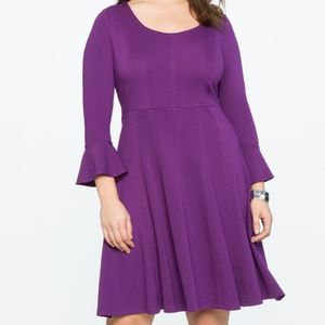 Eloquii Fit and Flare Seam Detail Dress